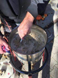 Highlander Schluss-Essen Fondue